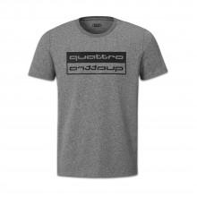 tričko Audi quattro šedé obrácený nápis quattro - pánské
