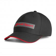 čepice kšiltovka Audi černá s nápisem Audi Sport