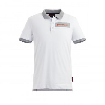 tričko Audi poloshirt s límečkem nápis Audi Sport pánské bílé