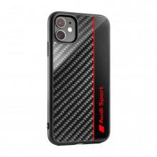 kryt Audi na telefon iPhone 11 carbon vzhled logo Audi Sport