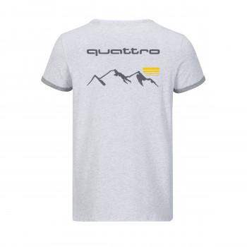tričko Audi quattro TShirt šedé hellgrau pánské