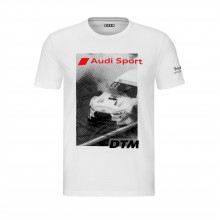 tričko Audi DTM nápis Audi Sport bílé pánské