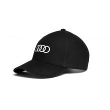 čepice kšiltovka Audi černá bílé kruhy