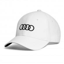 čepice kšiltovka Audi bílá černé kruhy