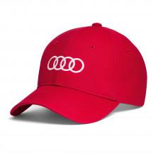čepice kšiltovka Audi červená bílé kruhy