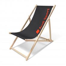 lehátko Audi s nápisem Audi Sport skládací židle dřevěná tmavě šedá červená barva