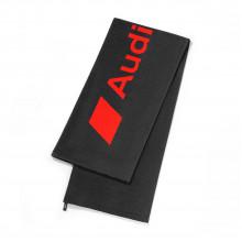 osuška ručník Audi logo červené Audi Sport tmavě šedá červená 80x180cm