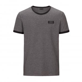 tričko Audi logo kruhy ringe pánské šedé