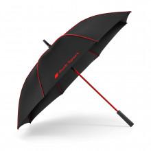 deštník Audi s nápisem Audi Sport černo červený