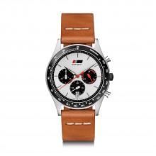 hodinky Audi Heritage chronograph hnědý pásek limitovaná edice