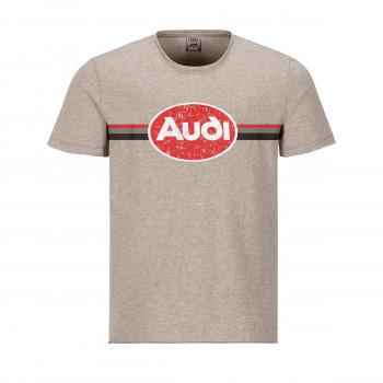 tričko Audi heritage béžové beige pánské