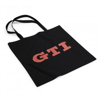taška VW GTI černá s červeným nápisem GTI bavlněná