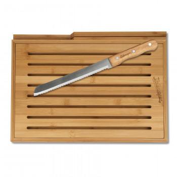 prkénko VW nápis Volkswagen bambusové dřevěná deska s nožem Heritage z nerezové oceli