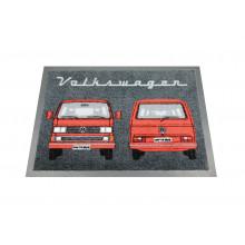 koberec rohožka VW Vanagon T3 Bus 70x50cm červená a černá barva back/red