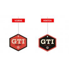 VW GTI červená barva logo GTI vonítko vůně air freshener na zrcátko vůně kokos