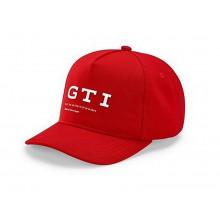 čepice kšiltovka VW GTI Volkswagen logo GTI souřadnice červená barva