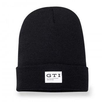 čepice kulich VW GTI černý s nápisem GTI pletená