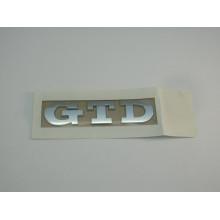 logo znak VW Golf 5 Golf 6 nápis GTD nalepovací zadní