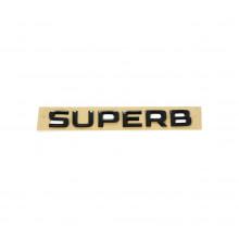 logo znak Škoda nápis Superb černá barva black edition nalepovací