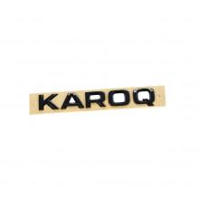 logo znak Škoda nápis Karoq černá barva black edition nalepovací